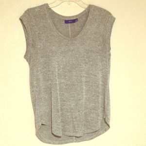 Dark and light gray Blouse with partial sleeves